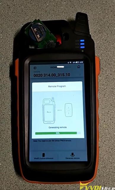 generate toyota xm smart key with key tool max -7