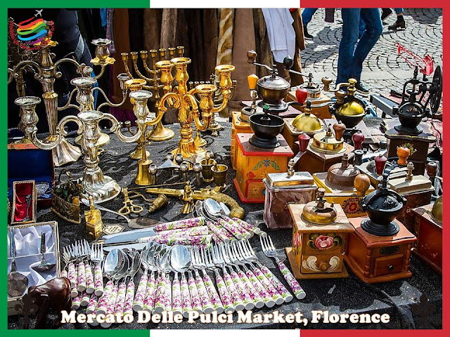 The most famous local market in Florence, Italy