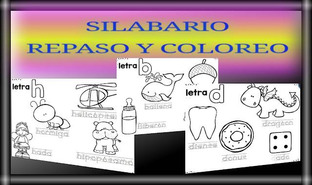SILABARIO PARA REPASAR Y COLOREAR