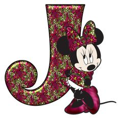 Abecedario de Minnie para Navidad. Minnie Abc for Christmas.