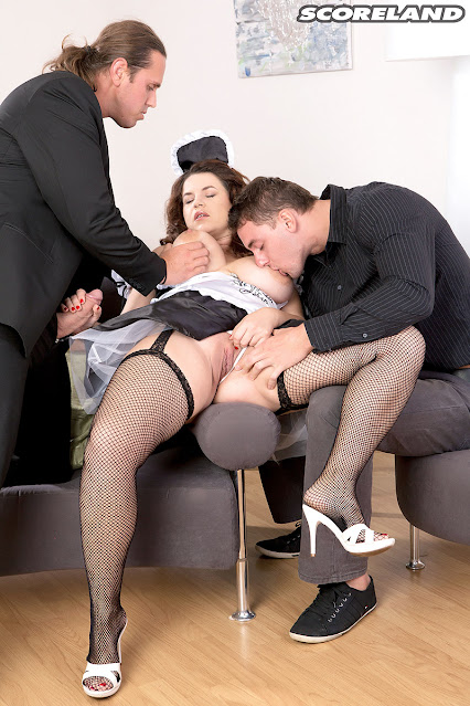 French maid fucked