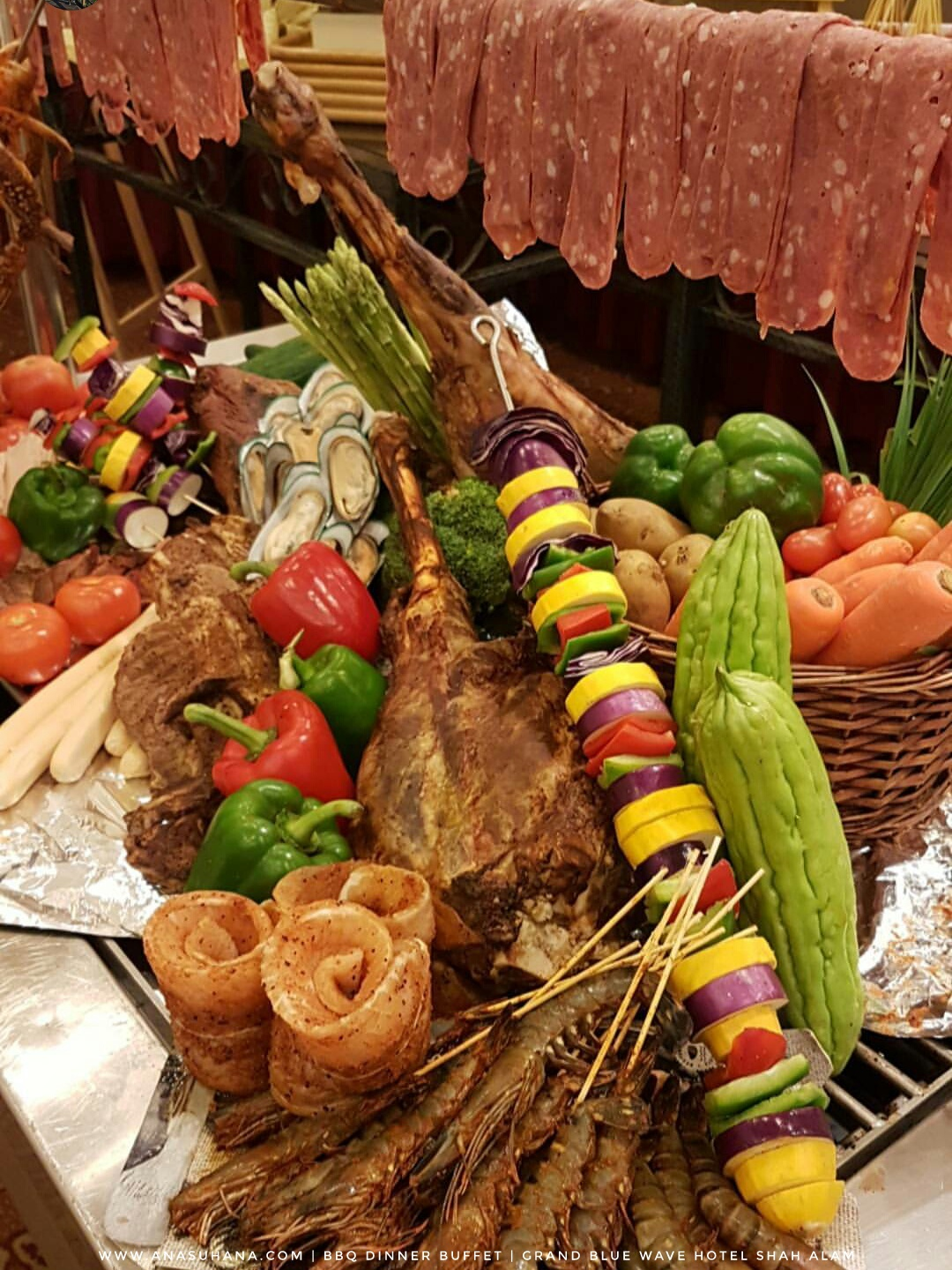BBQ Buffet Dinner di Royale Songket Restaurant, Grand BlueWave Hotel Shah Alam