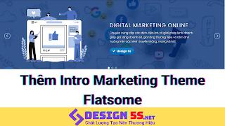 """Thêm intro marketing tuyệt đẹp cho blogspot """"theme flatsome"""""""