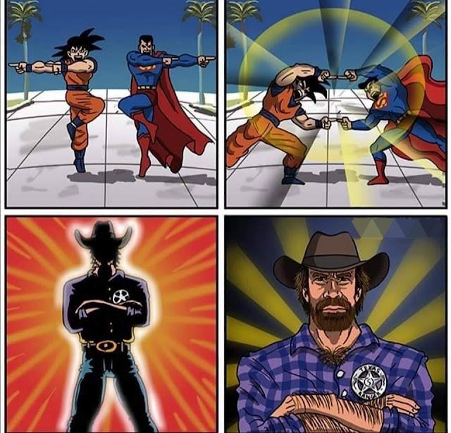 goku superman y chuck norris