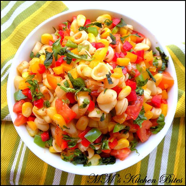 Light Pasta Salad with Vinaigrette mmskitchenbites