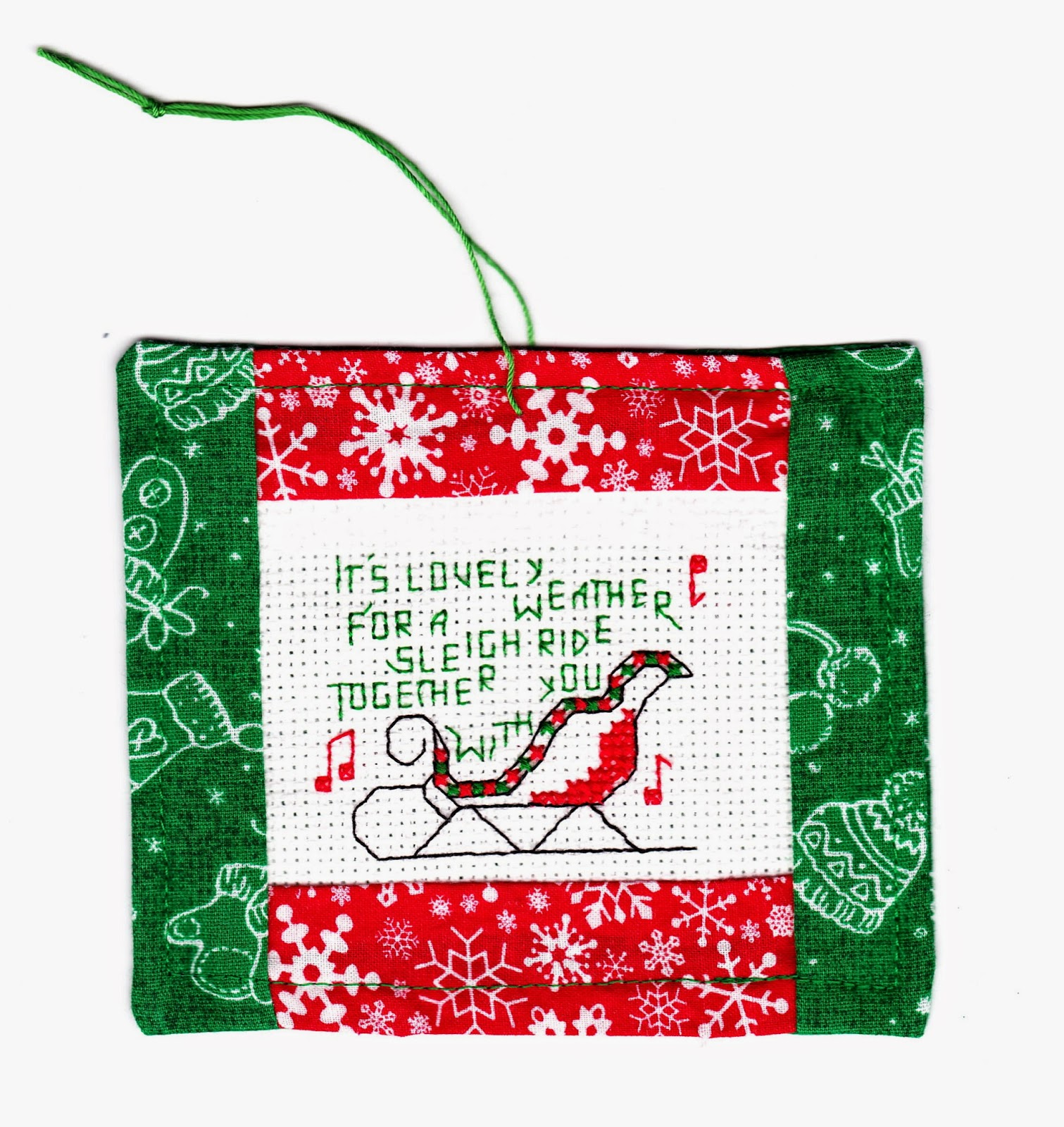Mrs.T's Christmas Kitchen: How to finish a cross-stitch ...