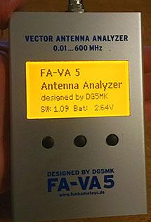 AE5X: Firmware update: FA-VA5 antenna analyzer