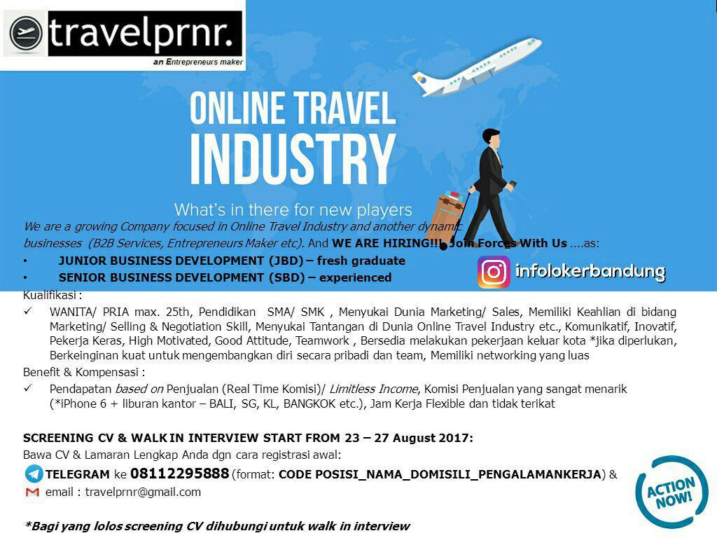 Lowongan Kerja Travelprnr Bandung Agustus 2017