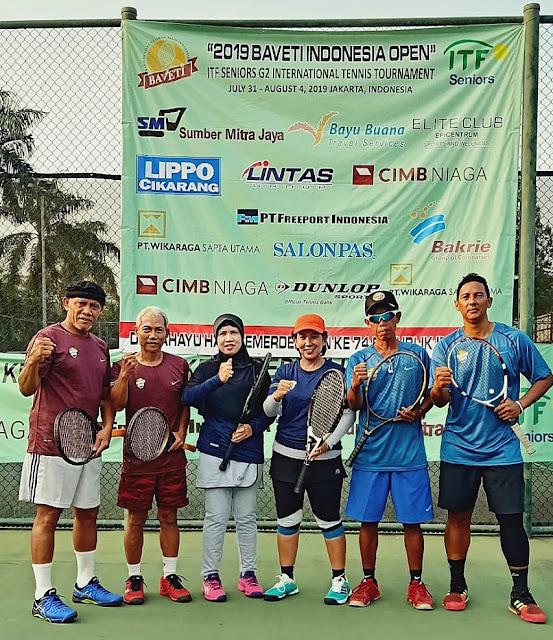 Sejumlah Petenis Indonesia Terus Melaju di Kejuaraan Tenis Internasional di Jakarta