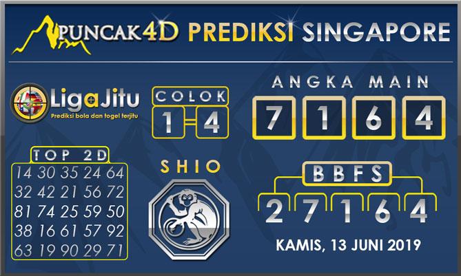 PREDIKSI TOGEL SINGAPORE PUNCAK4D 13 JUNI 2019
