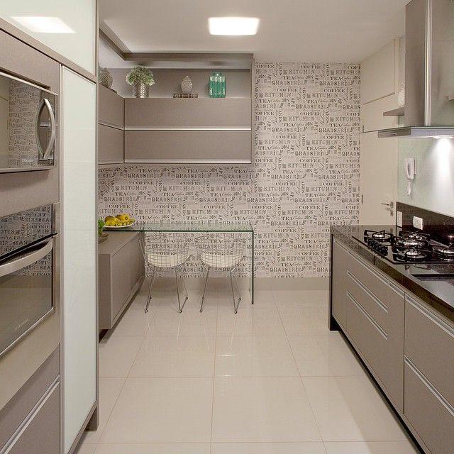 10 Cozinhas cinza!  Jeito de Casa  Blog de Decoração # Cozinha Planejada Cinza E Branco