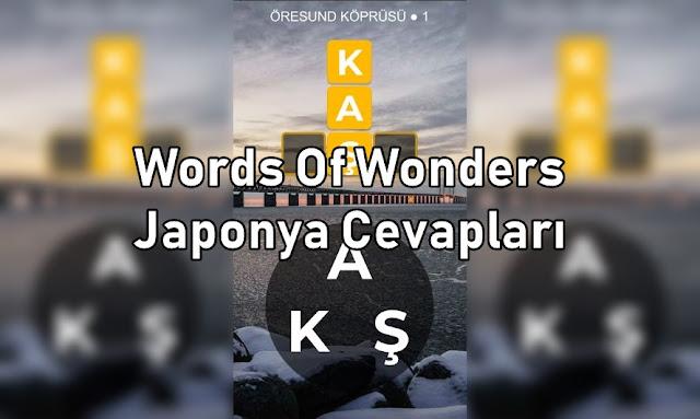 Words Of Wonders Japonya Cevaplari