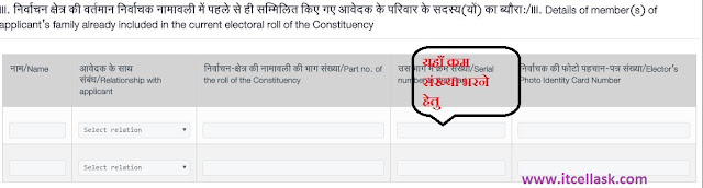 Form No. 6 Already Member's in current Electoral of Constituency