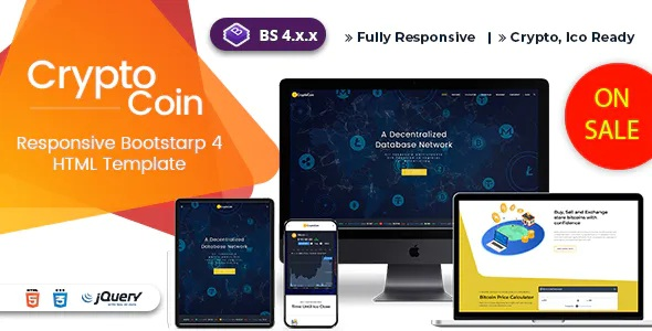 Best ICO Bitcoin & Cryptocurrency HTML Template