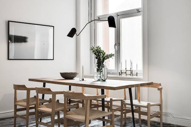 Interesting and elegant scandinavian home