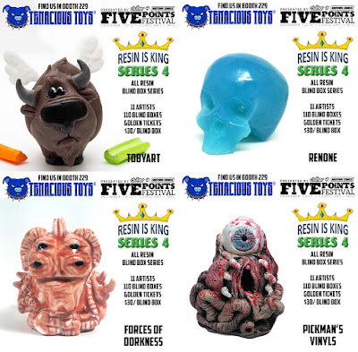 Five Points Festival Debut Resin Is King Blind Box Series 4 by Tenacious Toys x Dead Hand Toys