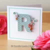 Quilling Letter R Monogram Tutorial Pattern