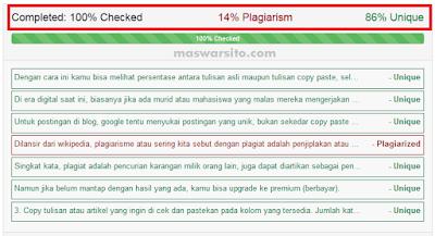 cara mengecek tulisan plagiat atau tidak