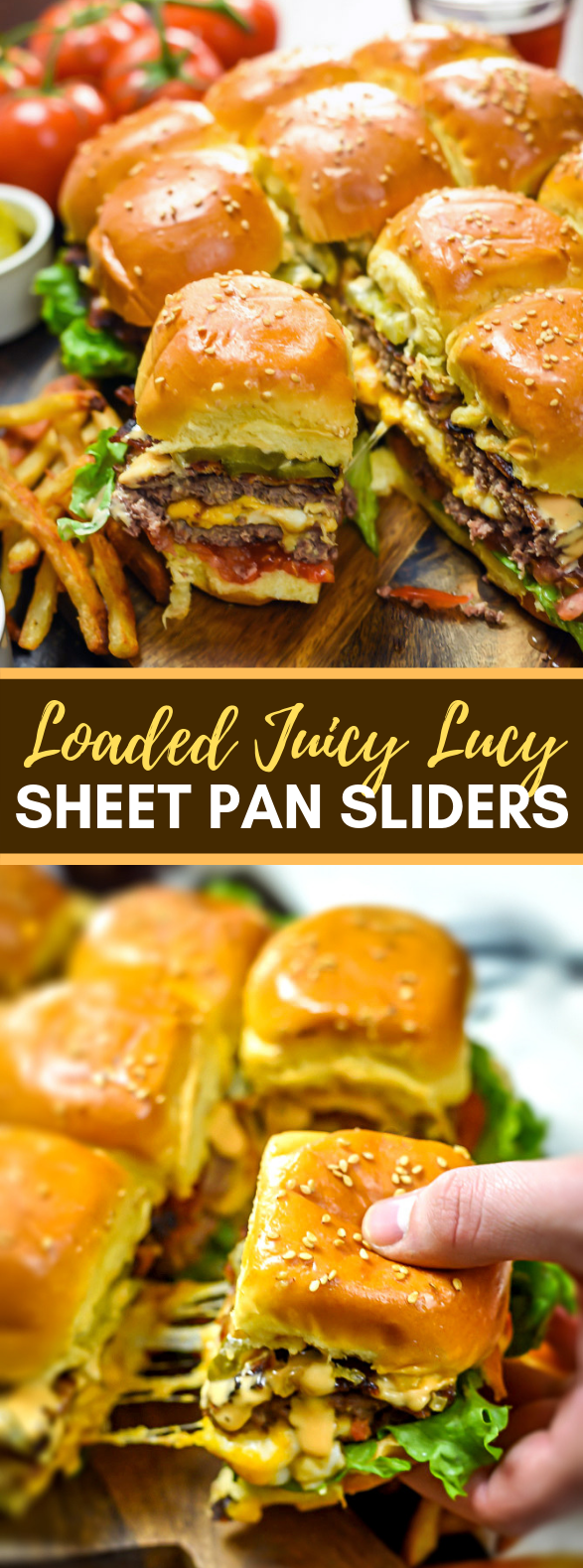 LOADED JUICY LUCY SHEET PAN SLIDERS #lunch #dinner