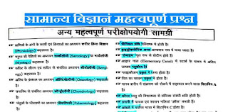 GS One Liner Questions In Hindi