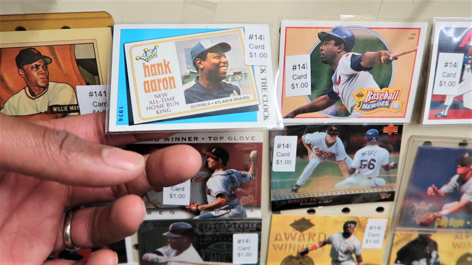Vintage baseball cards. Thrift bits and favorites