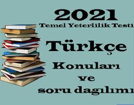 2021 TYT Türkçe Konuları ve Soru Dağılımı