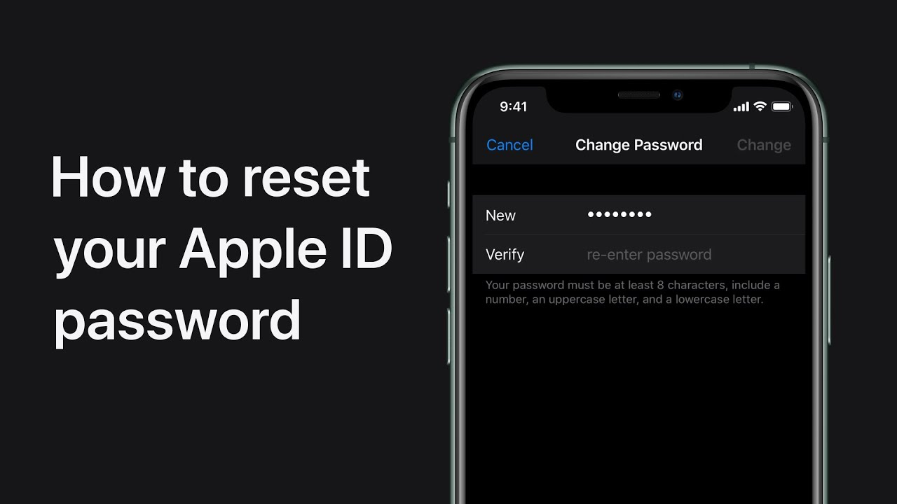 How to reset Apple ID password on iPhone