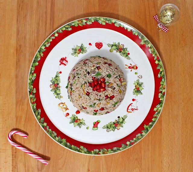 Χριστουγεννιάτικο Ρύζι με Κουκουνάρι, Ρόδι, Cranberries και Φυστίκια Αιγίνης / Christmas rice with cranberries, pomegranade and nuts