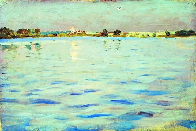Исаак Ильич Левитан - Последние лучи. Озеро. 1898-1899