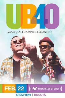 Concierto UB40 + Ali Campbell & Astro en Colombia