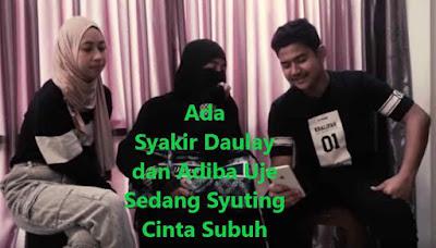Ada Syakir Daulay dan Adiba Uje Sedang Syuting Cinta Subuh
