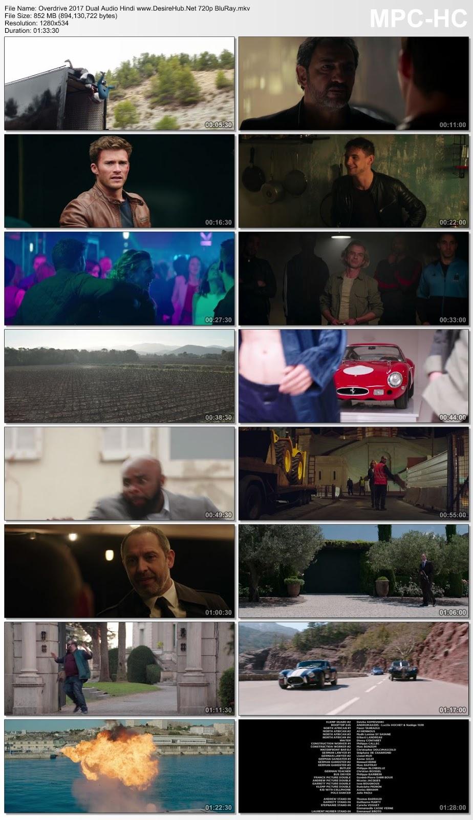 Overdrive 2017 Dual Audio [Hindi – English] 480p BluRay 300MB Desirehub