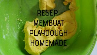 Resep membuat playdough homemade