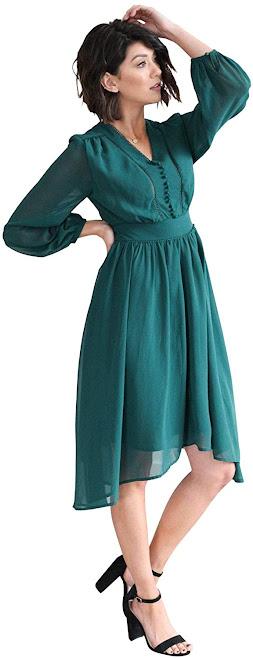 Good Quality Chiffon Bridesmaid Dresses With Sleeves