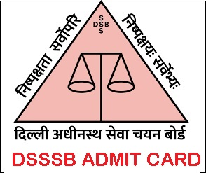 DSSSB Special Educator Admit Card 2021 Post Code 32/21