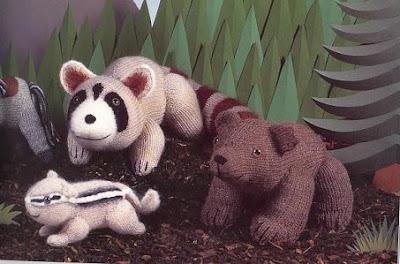 raton laveur au tricot