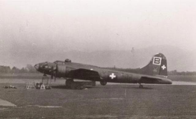 Boeing B-17 in Swiss markings in World War II worldwartwo.filminspector.com