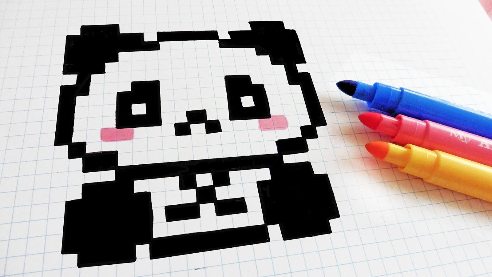 Handmade Pixel Art How To Draw Kawaii Panda Pixelart