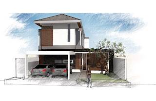 perancangan rumah modern tropis