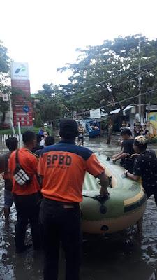 Banjir Disejumlah Titik di Manado, BPBD Sulut Gerak Cepat