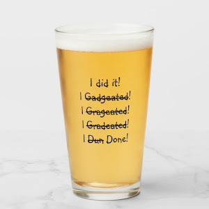 I did it | Funny Graduation Party Graduate Beer Glass