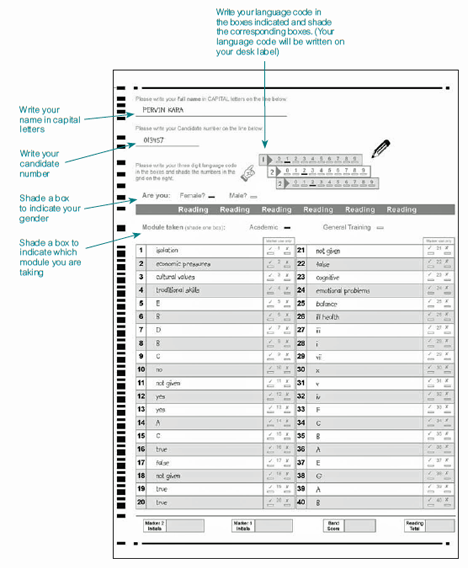 Desiaustralia Blogspot Com Ielts Answer Sheet Writing