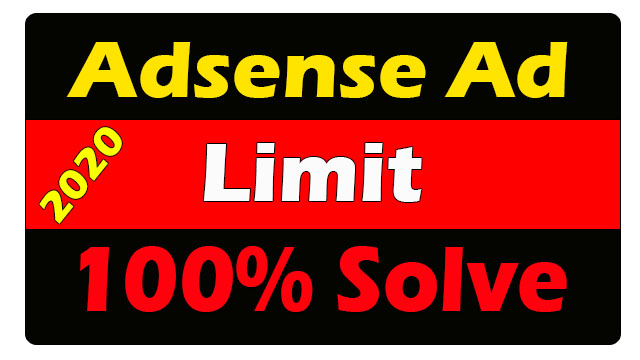 Solve Temporary Ad Serving Adsense Limit