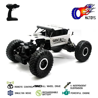 RC MOBIL OFFROAD CLIMBING CAR MONSTER SCALE 1:18 4WD 2.4Ghz Silver