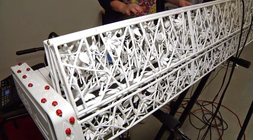 3D printed keyboard musical instrument