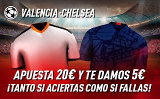 sportium promo champions Valencia vs Chelsea 27 noviembre 2019