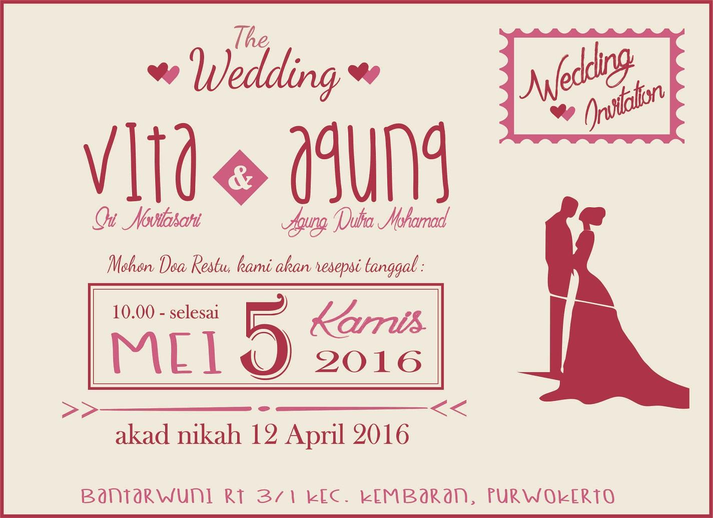 Dream Desain Undangan Pernikahan Simple 2