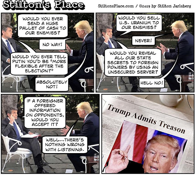 stilton's place, stilton, political, humor, conservative, cartoons, jokes, hope n' change, trump, stephanopoulos, opponents, information, hillary, obama, treason, ABC News