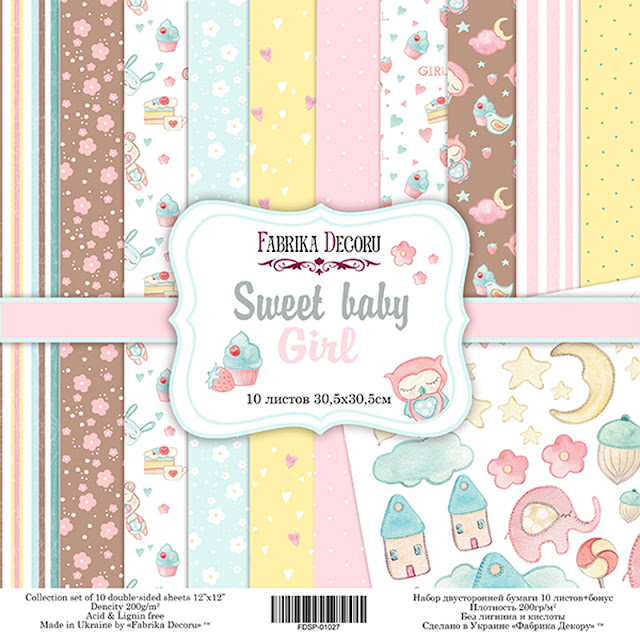 "Coleccion ""Sweet baby. Girl"" - Fabrika Decoru"