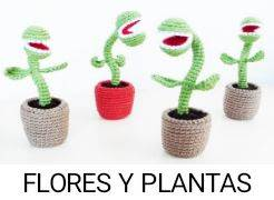 PATRONES FLORES Y PLANTAS AMIGURUMI